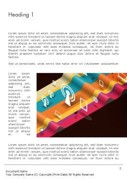 Data Transmission Concept Word Template, First Inner Page, 12548, Telecommunication — PoweredTemplate.com