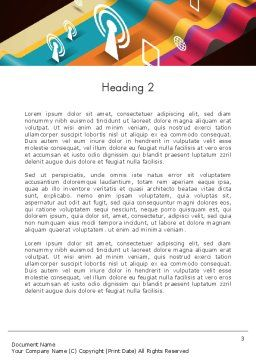 Data Transmission Concept Word Template Second Inner Page
