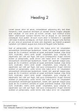 Finding Solutions Word Template, Second Inner Page, 12550, Consulting — PoweredTemplate.com