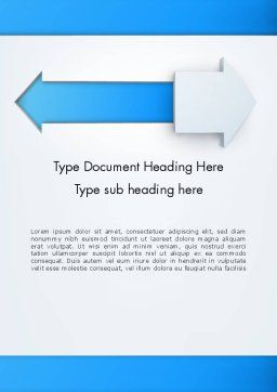 Opposite Directions Word Template, Cover Page, 12551, Business Concepts — PoweredTemplate.com