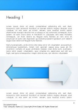 Opposite Directions Word Template, First Inner Page, 12551, Business Concepts — PoweredTemplate.com