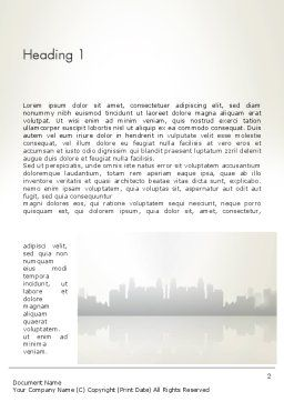 Puzzle Pieces on City Background Word Template, First Inner Page, 12552, Business Concepts — PoweredTemplate.com