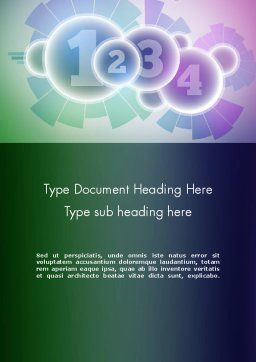 Statistical Data Word Template Cover Page