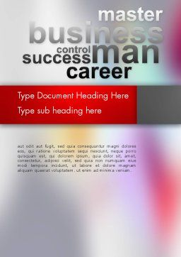 Control Success Career Word Template, Cover Page, 12556, Business Concepts — PoweredTemplate.com