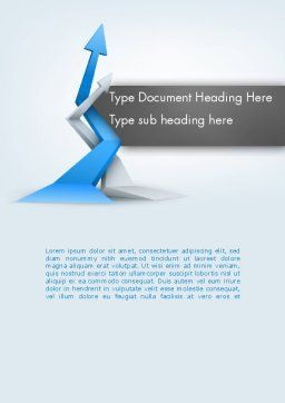 Intertwining Up Arrows Word Template, Cover Page, 12557, Business — PoweredTemplate.com