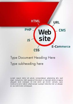 Website Technology Word Template, Cover Page, 12559, Technology, Science & Computers — PoweredTemplate.com