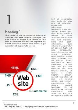 Website Technology Word Template, First Inner Page, 12559, Technology, Science & Computers — PoweredTemplate.com