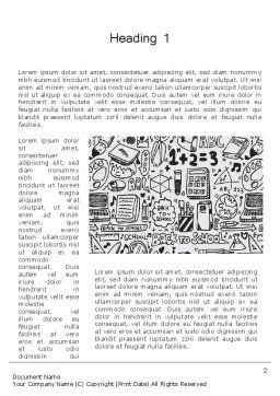 Education and Science Doodles Word Template First Inner Page