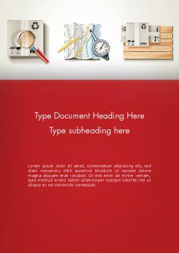 Packaging and Delivering Word Template Cover Page