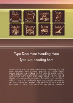 Restaurant Menu Word Template, Cover Page, 12571, Food & Beverage — PoweredTemplate.com