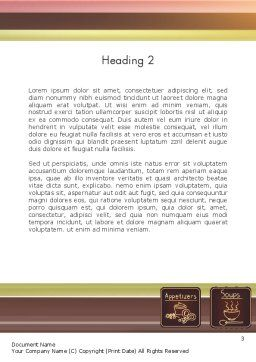 Restaurant Menu Word Template Second Inner Page