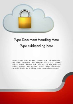 Protected Cloud Data Word Template, Cover Page, 12573, Technology, Science & Computers — PoweredTemplate.com