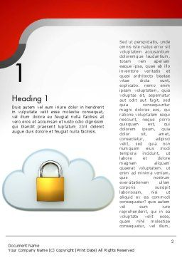 Protected Cloud Data Word Template, First Inner Page, 12573, Technology, Science & Computers — PoweredTemplate.com