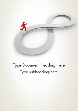 Infinity Run Word Template, Cover Page, 12574, Business Concepts — PoweredTemplate.com