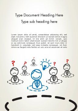 Idea Maker Word Template, Cover Page, 12575, Business Concepts — PoweredTemplate.com