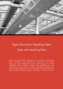 Air Conditioning Word Template, Cover Page, 12576, Careers/Industry — PoweredTemplate.com