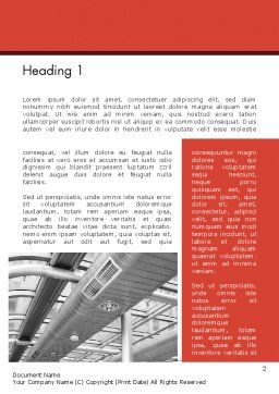 Air Conditioning Word Template, First Inner Page, 12576, Careers/Industry — PoweredTemplate.com
