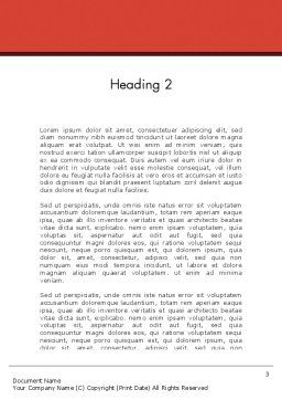 Air Conditioning Word Template, Second Inner Page, 12576, Careers/Industry — PoweredTemplate.com