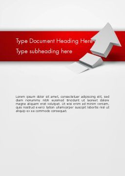 Rising 3D Arrow Word Template, Cover Page, 12580, Business Concepts — PoweredTemplate.com