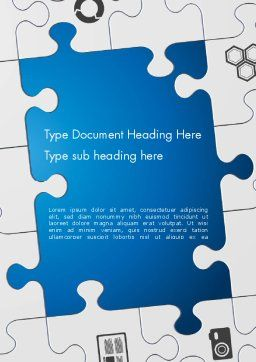 Jigsaw Puzzle Pieces Word Template, Cover Page, 12582, Education & Training — PoweredTemplate.com