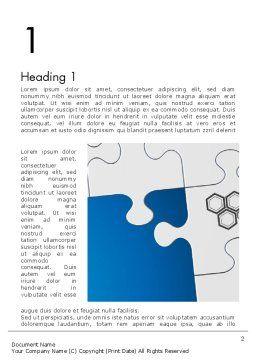 Jigsaw Puzzle Pieces Word Template, First Inner Page, 12582, Education & Training — PoweredTemplate.com