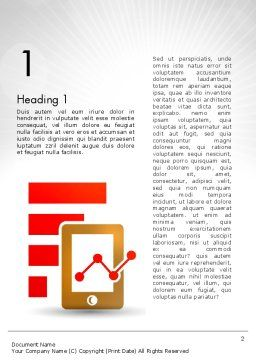 Line Chart on Touchpad Word Template, First Inner Page, 12586, Business — PoweredTemplate.com