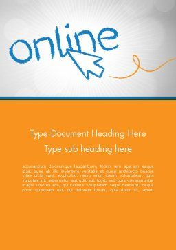 Online Word Template Cover Page