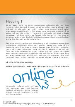 Online Word Template First Inner Page