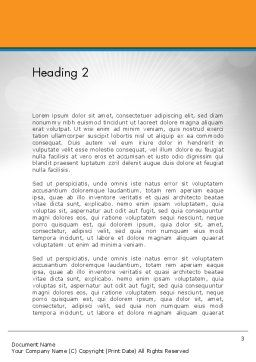 Online Word Template Second Inner Page