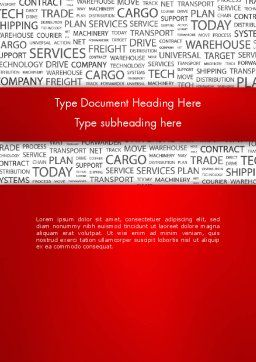 Word Cloud For Logistic Distribution Word Template Cover Page