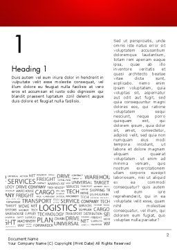 Word Cloud For Logistic Distribution Word Template First Inner Page