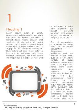 Online News Concept Word Template, First Inner Page, 12595, Careers/Industry — PoweredTemplate.com