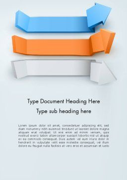 Three-Dimensional Arrows Word Template, Cover Page, 12598, 3D — PoweredTemplate.com