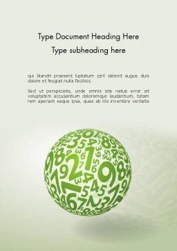 Sphere Of Numbers Word Template, Cover Page, 12599, Education & Training — PoweredTemplate.com