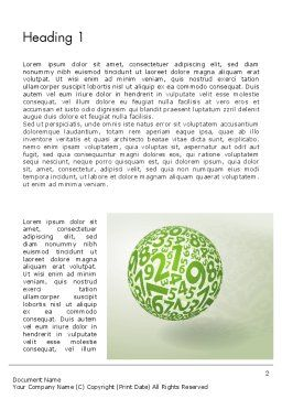 Sphere Of Numbers Word Template, First Inner Page, 12599, Education & Training — PoweredTemplate.com