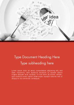 Feeding Brain Ideas Word Template, Cover Page, 12600, Business Concepts — PoweredTemplate.com