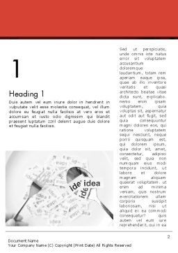 Feeding Brain Ideas Word Template, First Inner Page, 12600, Business Concepts — PoweredTemplate.com