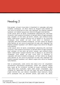 Feeding Brain Ideas Word Template, Second Inner Page, 12600, Business Concepts — PoweredTemplate.com