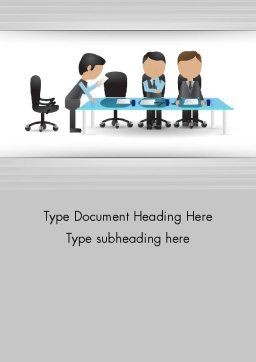 Corporate Board Meeting Word Template, Cover Page, 12603, Business — PoweredTemplate.com