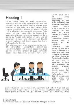 Corporate Board Meeting Word Template, First Inner Page, 12603, Business — PoweredTemplate.com