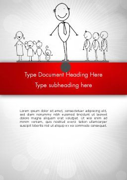 Family Work Balance Word Template, Cover Page, 12609, Consulting — PoweredTemplate.com