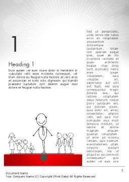 Family Work Balance Word Template, First Inner Page, 12609, Consulting — PoweredTemplate.com