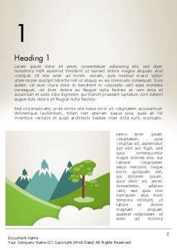 Landscape for Kids Word Template First Inner Page