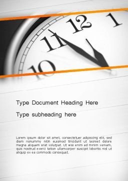 Five Minutes to Twelve Word Template, Cover Page, 12612, Business Concepts — PoweredTemplate.com