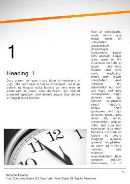 Five Minutes to Twelve Word Template, First Inner Page, 12612, Business Concepts — PoweredTemplate.com
