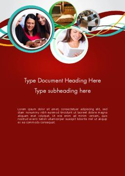 Student Education Word Template, Cover Page, 12613, Education & Training — PoweredTemplate.com