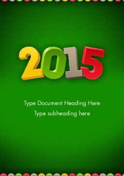 2015 Colored Numbers Word Template, Cover Page, 12622, Holiday/Special Occasion — PoweredTemplate.com
