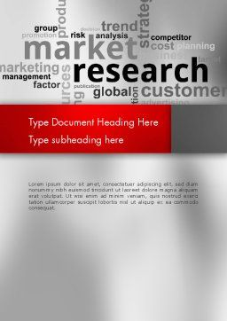 Market Research Word Cloud Word Template Cover Page
