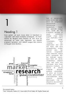 Market Research Word Cloud Word Template First Inner Page