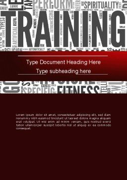 Training Word Cloud Word Template, Cover Page, 12630, Education & Training — PoweredTemplate.com